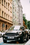 Front View Of Black Mini Cooper Countryman S All4 Sd Car With 2. Stock Image