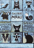 PRAGUE, CZECH REPUBLIC -  SEPTEMBER 02, 2015: Photo of  Art Gallery - Gallery of Meow. Stock Image