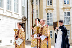 PRAGUE, CZECH REPUBLIC - SEPTEMBER 04, 2016: Procession at re-en Stock Image