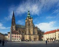 PRAGUE, CZECH REPUBLIC - SEPTEMBER 20, 2014: Saint Vitus Cathedr Royalty Free Stock Photography