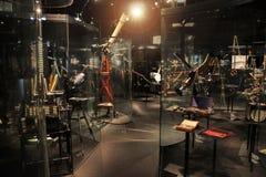 Prague, Czech Republic - September 23, 2017: Telescopes in national technical museum in Prague, Czech Republic. The astronomy exhi royalty free stock image