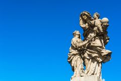 Statue of Saint Anne on Charles Bridge in Prague Stock Images