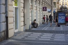 PRAGUE, CZECH REPUBLIC, 03.08.2018 On the street of Prague 1.editorial stock images