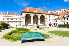Prague, Czech Republic. Valdstejnska Garden and Prague Castle, Prague, Czech Republic Royalty Free Stock Image