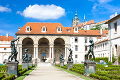 Prague, Czech Republic. Valdstejnska Garden and Prague Castle, Prague, Czech Republic Royalty Free Stock Photography