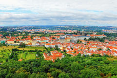2014-07-09 Prague, Czech republic - view from the 'Petrinska rozhledna' tower to nice historical city Prague Stock Image