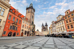 Prague, Czech Republic - view of square and astronomical clock Stock Image