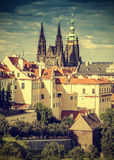 Prague, Czech Republic, vintage retro instagram effect.. Royalty Free Stock Photo