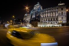 Prague, Czech Republic - Wenceslas Square by night stock images