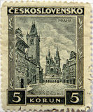 Prague Czech stamp Stock Image