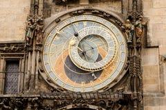PRAGUE, CZECHIA - OCTOBER 18, 2017: Prague astronomical clock. The Prague astronomical clock is a medieval astronomical clock loca. Ted in Prague Stock Photos