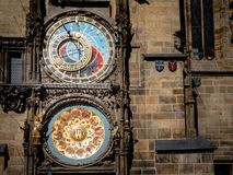 Prague Czechia View of Iconic Astrological Clock Tower Face stock photo