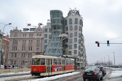 Prague Dancing House at winter Royalty Free Stock Photography