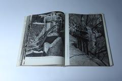 Prague dans le livre d'images par Karel Plicka Cimetière juif Photos libres de droits