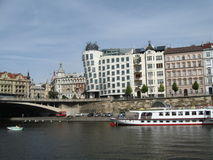 Prague - dansbyggnad royaltyfri fotografi