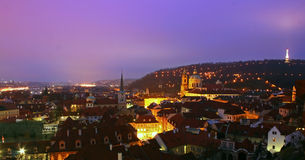 Prague at Dawn. View of Prague, Czech Republic, taken early in the morning at the Prague Castle Stock Photo