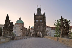 Prague at dawn Stock Photos