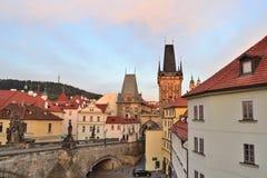 Prague at dawn Stock Images