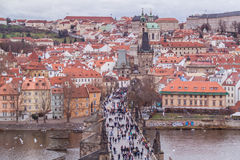 Prague in december Royalty Free Stock Photo