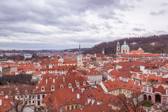 Prague in december Stock Photo