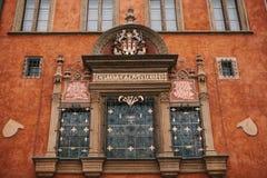 Prague December 13, 2016: Närbild för bästa sikt av härlig historisk röd byggnad i huvudsaklig fyrkant för Prague ` s royaltyfria bilder