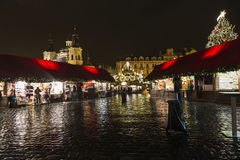PRAGUE, 1 DECEMBER 2014 - Old Town Square at Christmas time, Prague, Czech Republic. PRAGUE, 1 DECEMBER 2014 - Christmas light. Old Town Square at Christmas time Royalty Free Stock Photo
