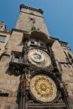 Prague den astronomiska klockan, Tjeckien Arkivfoto