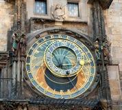 Prague den astronomiska klockan, Tjeckien Royaltyfria Foton