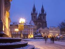 Prague den gammala townen kvadrerar Fotografering för Bildbyråer