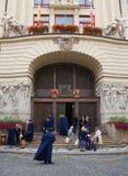 Prague den nya stadshusbyggnaden Fotografering för Bildbyråer
