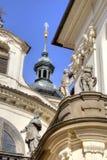 Prague. Dome of the old church Stock Photos