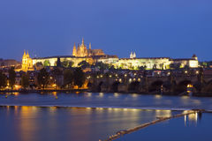 Prague at dusk Royalty Free Stock Photo