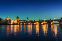 Prague at dusk; Czech Republic Royalty Free Stock Photos