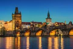 Prague at dusk; Czech Republic Royalty Free Stock Photo
