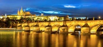 Prague at dusk Royalty Free Stock Images