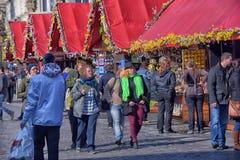 Prague Easter market, Old Town Square, Prague, Royalty Free Stock Photos