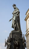 Prague - emperor Charles IV stock images