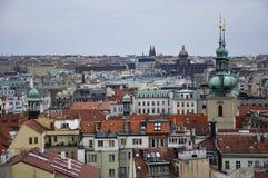 Prague - en av de mest härliga städerna i Europa, var varje byggnad är ett arbete av arkitektonisk konst Royaltyfri Fotografi
