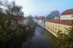 Prague Čertovka. Certovka in Prague as seen early on an autumn morning Royalty Free Stock Images