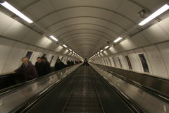 Prague escalator Royalty Free Stock Photography