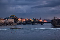 Prague evening Stock Image