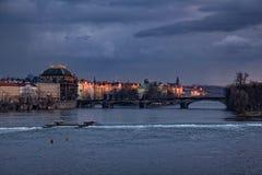 Prague evening stock image