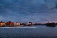 Prague evening Stock Photos