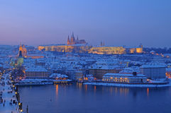 Prague in evening Stock Photo