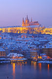 Prague in Evening Stock Image