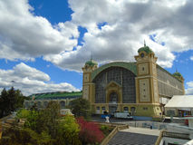 The Prague Exhibition Center, also known as the Holesovice Exhibition Center Stock Photo
