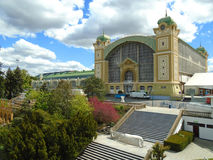 The Prague Exhibition Center, also known as the Holesovice Exhibition Center Royalty Free Stock Photography