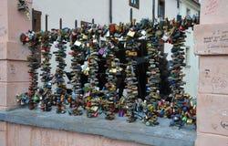 PRAGUE - 23 FÉVRIER : Endroit des amants à Prague Images libres de droits