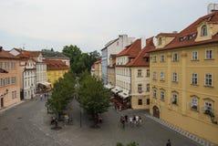 Prague för Na-kampefyrkant Tjeckien Europa arkivfoton