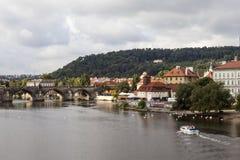 Prague för republiktown för cesky tjeckisk krumlov medeltida gammal sikt Royaltyfria Bilder